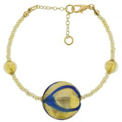 Royal Blue Circle Bracelet