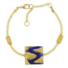 Royal Blue Square Bracelet