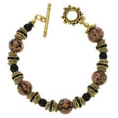 Murano Symphony Bracelet - Black