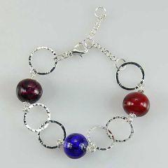 Silver Fantasy Murano Bracelet