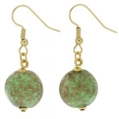 Starlight Disk Earrings - Seafoam Green