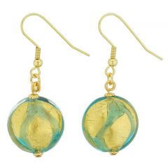 Royal Aquamarine Circles Earrings