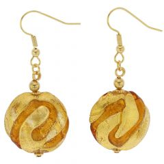 Royal Cognac Circle Earrings