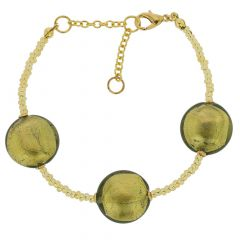 Royal Murano Bracelet - Olive Green