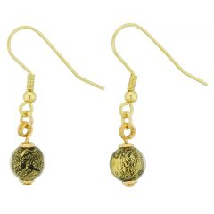 Golden Glow Earrings - Black