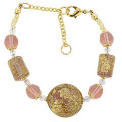 Ca D'Oro Murano Bracelet - Purple
