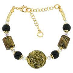 Ca D'Oro Murano Bracelet - Black
