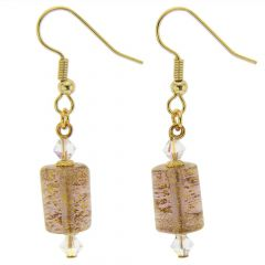 Ca D'Oro Murano Barrel Earrings - Purple