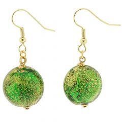 Ca D'Oro Earrings - Emerald Green