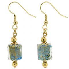 Antico Tesoro Cubes Earrings - Aqua