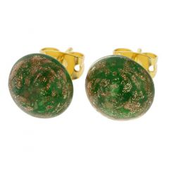 Starlight Small Stud Earrings - Emerald