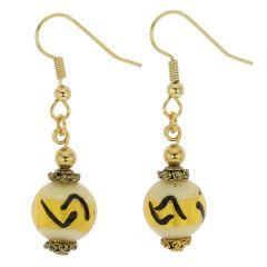 Antico Tesoro Balls Earrings - Ivory Gold