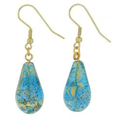Ca D'Oro Teardrop Earrings - Aqua