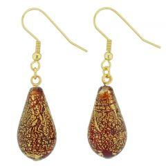 Ca D'Oro Drop Earrings - Ruby Red