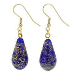 Ca D'Oro Drop Earrings - Cobalt Blue