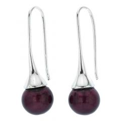 Murano Drop Earrings - Purple
