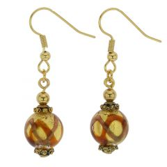 Antico Tesoro Balls Earrings - Topaz Waves Gold