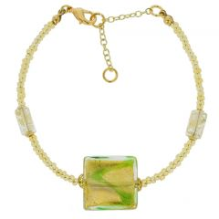 Royal Green Square Bracelet