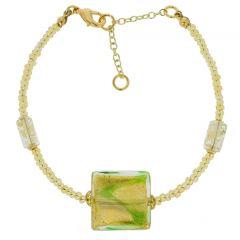 Royal Green Square Bracelet