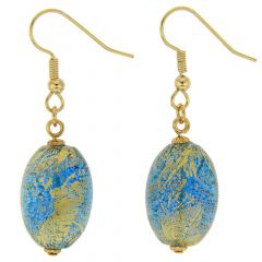Ca D'Oro Olives Earrings - Aqua