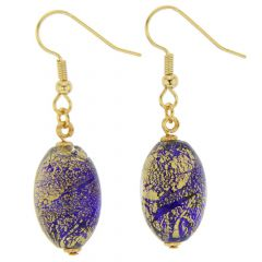 Ca D'Oro Olives Earrings - Cobalt Blue