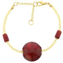 Royal Red Circle Bracelet