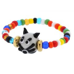 Murano Glass Kitty Cat Children's Bracelet