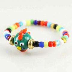 Murano Glass Tiny Fish Children's Bracelet