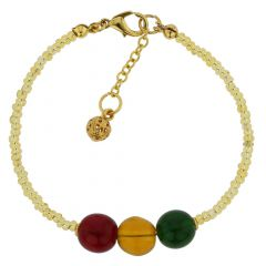 Golden Summer Children's Murano Glass Bracelet