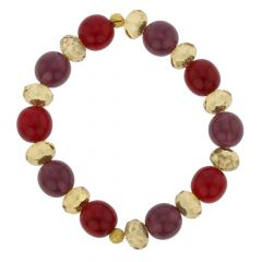 Venetian Queen Children's Stretch Bracelet - Red and Purple