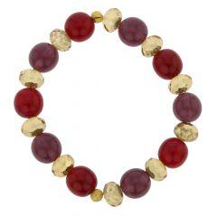 Venetian Queen Children's Stretch Bracelet - Red and Purple