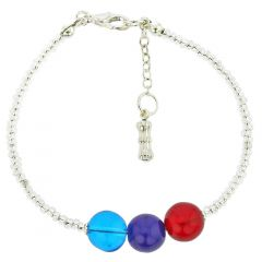 Silver Spring Children's Murano Glass Bracelet