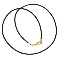 Genuine Cowhide Leather Cord - Black