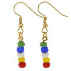 Venetian Fun Murano Glass Girls Earrings
