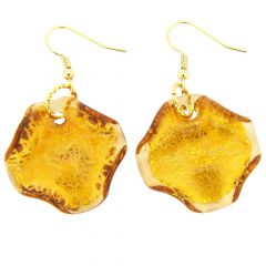 Isola Bella Murano Earrings - Golden Brown
