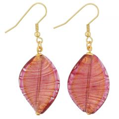 Isola Bella Murano Earrings - Purple