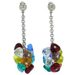 Isola Bella Murano Earrings - Silver Ice