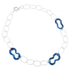 Isola Bella Murano Necklace - Silver Blue