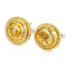 Murano Lights Cufflinks - Silver Topaz