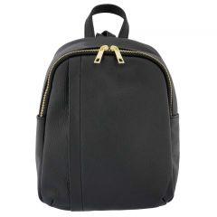 Fioretta Italian Genuine Leather Women Genuine Leather Backpack Purse Travel Bag For Women - Black