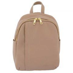 Fioretta Italian Genuine Leather Women Genuine Leather Backpack Purse Travel Bag For Women - Powder Pink