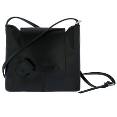 Fioretta Italian Genuine Leather Crossbody Shoulder Bag Handbag For Women - Black