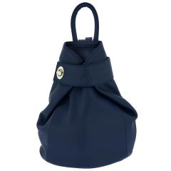 Fioretta Italian Genuine Leather Top Handle Backpack Handbag For Women - Blue