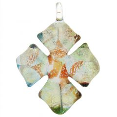 Kaleidoscope Cross-Shaped Pendant