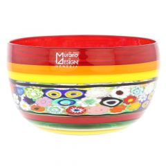Murano Glass Primavera Millefiori Bowl