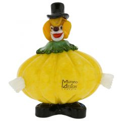 Murano Glass Clown - Pumpkin