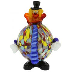 Murano Glass Clown - Round