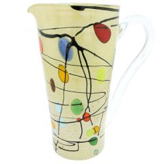 Murano Glass Picasso Pitcher / Carafe
