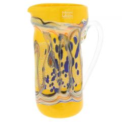Modern Art Murano Glass Carafe - Yellow