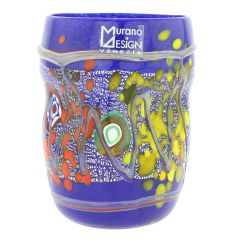 Modern Art Murano Glass Tumbler - Blue
